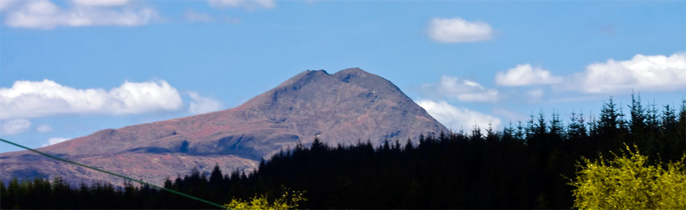 Ben Lomond from the cottage